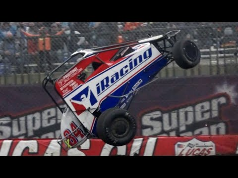 SLOMO: Christopher Bell Flips BIG At 2021 Lucas Oil Chili Bowl - dirt track racing video image
