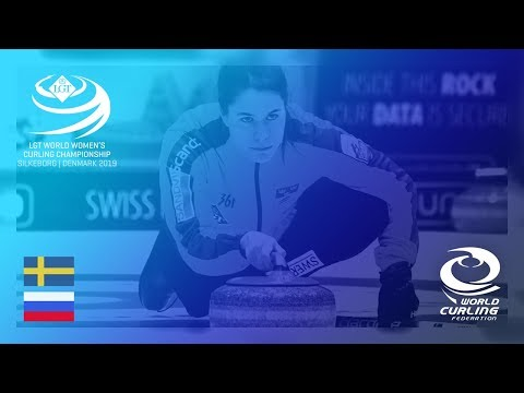 Sweden v Russia - round robin - LGT World Women's Curling Championships 2019