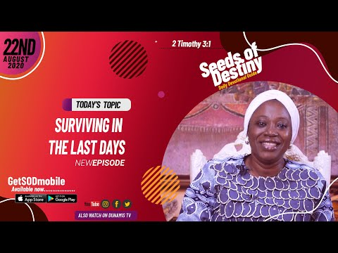 Dr Becky Paul-Enenche - SEEDS OF DESTINY - SATURDAY AUGUST 22, 2020
