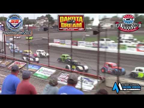 Sheyenne Speedway INEX Legends A-Main (2021 Dakota Dream) (9/6/21) - dirt track racing video image