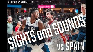 USA VS SPAIN BEHIND THE SCENES // SIGHTS AND SOUND MEN'S NATIONAL TEAM