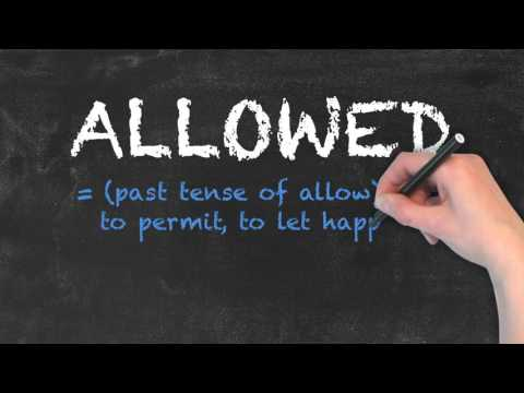 Aloud vs Allowed - English Grammar - Teaching Tips