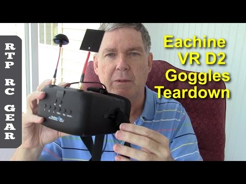 Teardown of Eachine VR D2 Diversity FPV Goggles with DVR - Tear Down and Mods - UCQ5lj3yRWyHvN_sDizJz0sg