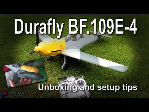 New DuraFly BF.109E-4 (ME109) Scale Warbird Unboxing and Setup tips - UCp1vASX-fg959vRc1xowqpw