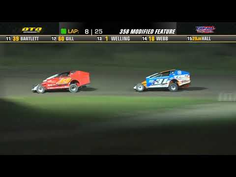 Can-Am Speedway   DIRTcar 358-Modified Feature Highlights   8/13/21 - dirt track racing video image