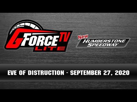 GForceTV Lite - Humberstone Eve of Destruction -  September 27, 2020 - dirt track racing video image