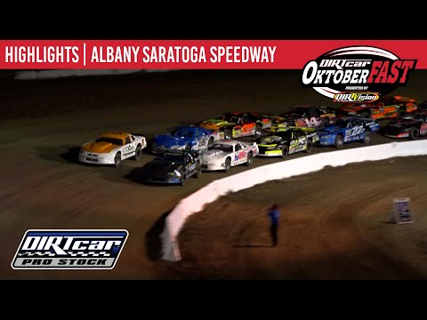 DIRTcar Pro Stocks Albany Saratoga Speedway October 6, 2020 | HIGHLIGHTS - dirt track racing video image