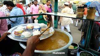 Old Man Manages Everything Must Hard Working Selling Roadside Popular street Food Shahi Haleem Tk 60