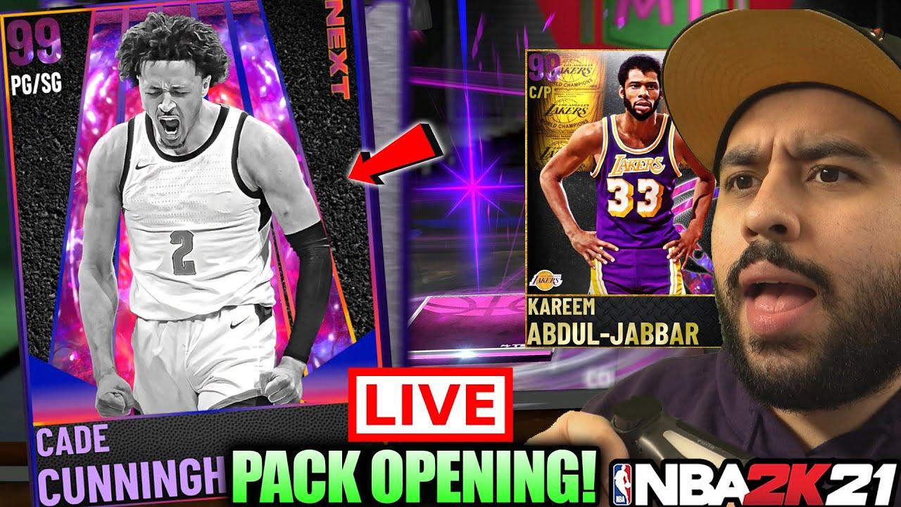 GOAT KAREEM, LAMELO BALL AND CADE CUNNINGHAM NBA DRAFT NEXT PACKS PACK OPENING IN NBA 2K21 MYTEAM