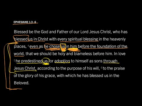 Ephesians 1:36 // Part 5 // Did God Really Choose Individuals to Be Saved?