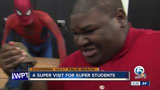 A super visit for super students