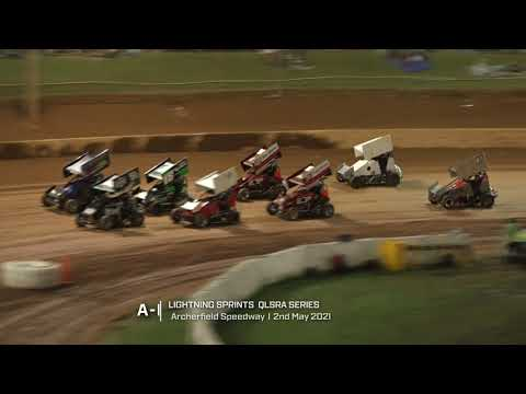 Lightning Sprints: A-Main - Archerfield Speedway - 02.05.2021 - dirt track racing video image