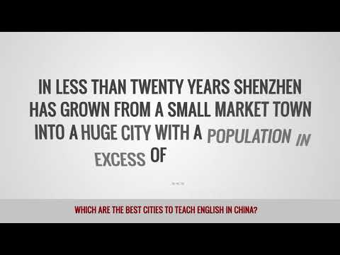 video about the best cities for TEFL teachers in China