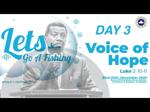 RCCG DECEMBER 29TH 2020  PASTOR E.A ADEBOYE LETS GO A FISHING _DAY 3