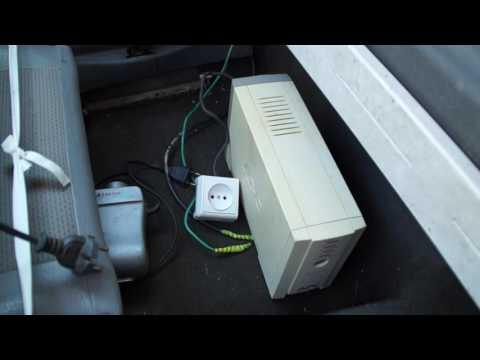 Как сделать простой преобразователь тока из 12 В на 220 В из старого бесперебойника  своими руками - UC8ylofig25CGILdRp-4Okmw