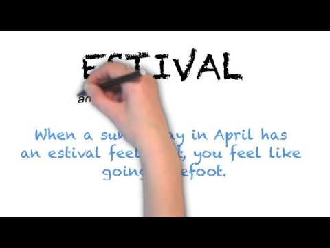 How to Pronounce 'ESTIVAL' - English Pronunciation