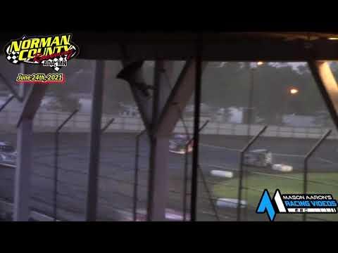Norman County Raceway WISSOTA Late Model A-Main (6/24/21) - dirt track racing video image
