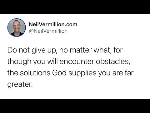 Do Not Give Up - Daily Prophetic Word
