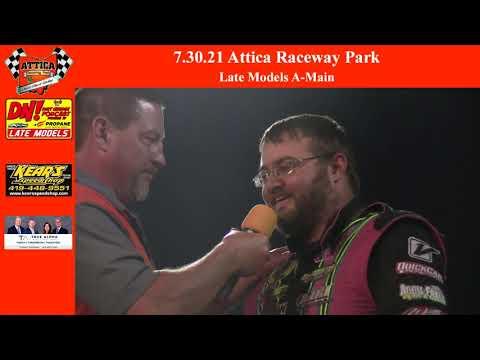 7.31.21 Attica Raceway Park Late Models A-Main - dirt track racing video image