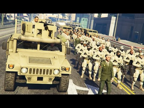 GTA 5 PLAY AS A COP MOD - MILITARY TAKEOVER!! MARTIAL LAW Army Police Patrol!! (GTA 5 Mods Gameplay) - UC2wKfjlioOCLP4xQMOWNcgg