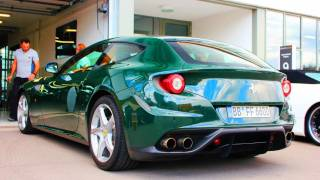 GREEN Ferrari FF Sound in Stuttgart