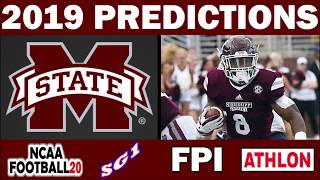 Mississippi State 2019 Football Predictions - Comparing Sources