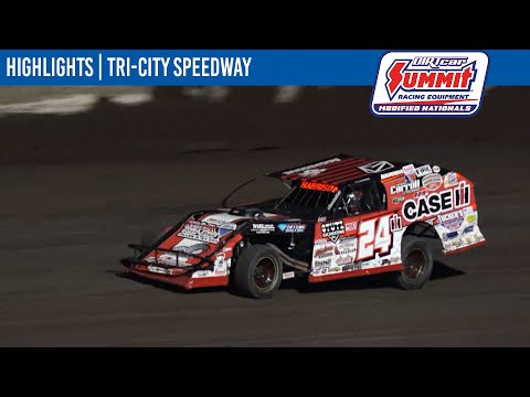DIRTcar Summit Modifieds Tri-City Speedway July 23, 2021 | HIGHLIGHTS - dirt track racing video image