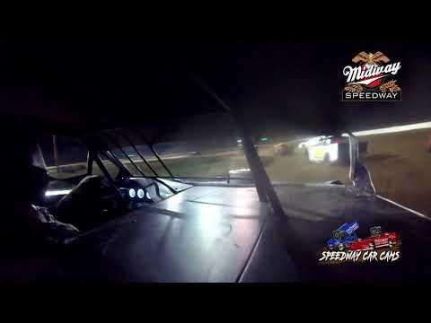 #32 Jim Bunton - POWRi Super Stock - 6-26-2021 Midway Speedway - In Car Camera. - dirt track racing video image