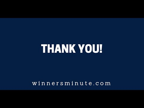 Thank You!  The Winner's Minute With Mac Hammond