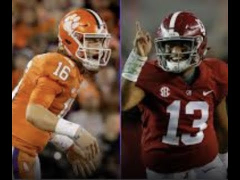 Breaking: Alabama & Clemson QBs Ready For Big Game / With CHRIST