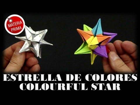 Estrella de colores - Colourful star. Origami - UCR_r4BhVJRcqXdGdtdA32LQ