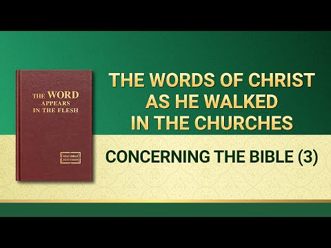 The Word of God  Concerning the Bible (3)