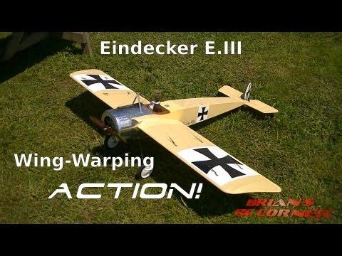 Aerodrome R/C Fokker E.III Eindecker: Wing Warping Action - UCqFj04rRJs6TJIwsVvCQK6A