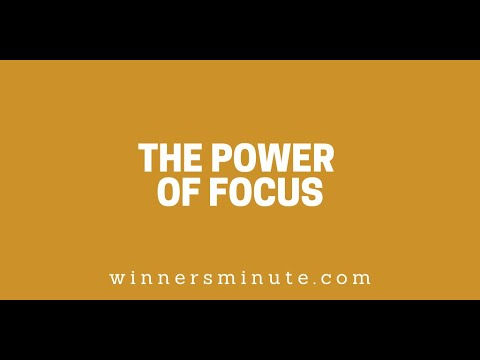 The Power of Focus // The Winner's Minute With Mac Hammond