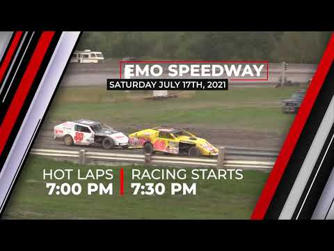 Saturday, July 17th LIVE PPV from Emo Speedway - dirt track racing video image
