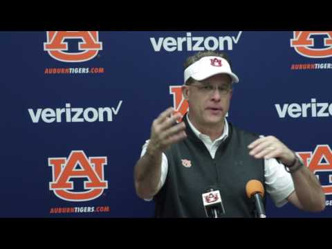 Gus Malzahn talks about spring practice, and the continue development of the time during the offseason.