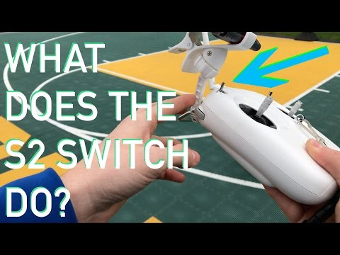What does the S2 Switch do on a DJI Phantom 3 Controller??