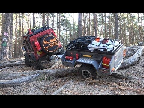 Traxxas TRX4 с прицепом по непролазному лесу ... Scale RC car in the forest - UCX2-frpuBe3e99K7lDQxT7Q