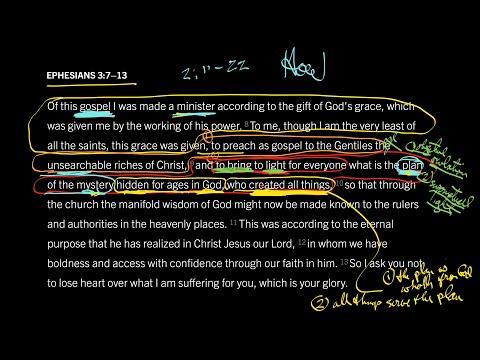 Ephesians 3:713 // Part 4 // A Plan No Mere Man Can Accomplish