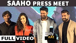 FULL VIDEO | SAAHO PRESS MEET IN CHENNAI