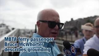 MBTA ferry lightening grounds off Long Island, passenger injuries