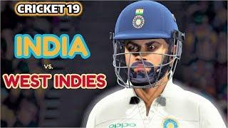 India Vs West Indies ,,1st Test,  World Test Championship 2019 ,, Cricket 19 Gameplay