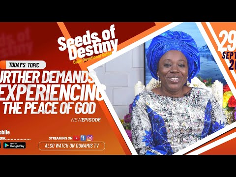 Dr Becky Paul-Enenche - SEEDS OF DESTINY - TUESDAY SEPTEMBER 29, 2020