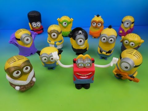 2015 Mcdonald S Minions Movie Set Of 12 Happy Meal Kids Toys Video