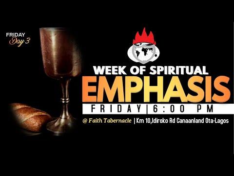 DOMI STREAM: DAY 3  WEEK OF SPIRITUAL EMPHASIS  5, MARCH 2021  FAITH TABERNACLE OTA