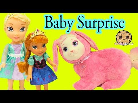 Bunny Surprise - Queen Elsa & Anna's Pet Bunny Has Babies - Cookieswirlc Video - UCelMeixAOTs2OQAAi9wU8-g