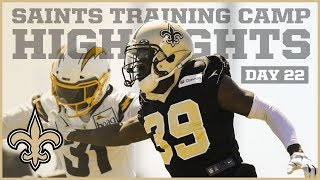 Saints Training Camp Highlights from Day 2 of Joint Practices with Chargers | New Orleans Saints