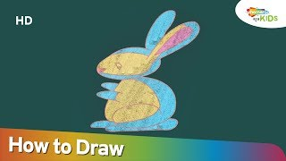 How to Draw Rabbit | Easy Step By Step Drawing Video For Children | Shemaroo Kids Kannada