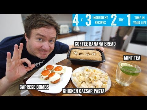 4 x 3 Ingredient recipes 2 try 1 time in your life! Part 11