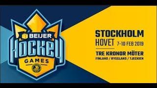 Live - EURO HOCKEY TOUR BEIJER HOCKEY GAMES - (Russia-Sweden) 2019